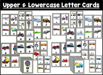 Transportation Alphabet Scavenger Hunt: Upper and Lowercase Letters