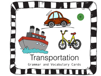 Transportation Articulation, Grammar, and Vocabulary Game