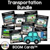 Transportation BOOM Cards for PreK Speech Therapy BUNDLE