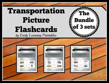 Transportation BUNDLE (set I, II, III) Picture Flashcards