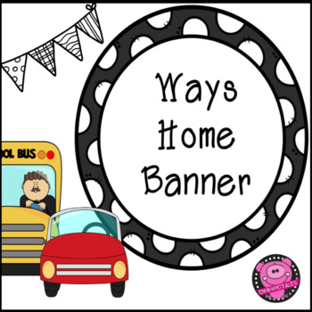 Transportation Banner and Print and Go Sheets