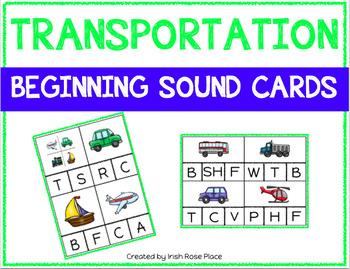 Transportation Beginning Sound Cards
