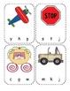 Transportation Beginning Sounds Clip Cards