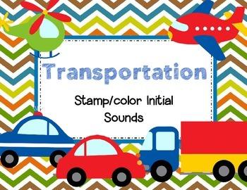 Transportation Beginning Sounds FREE