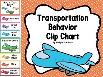 Transportation Behavior Clip Chart