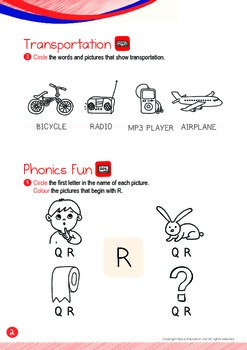 Transportation - Bicycle, Airplane (I): Letter R - K1 (3 years old)