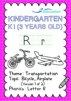 Transportation - Bicycle, Airplane (I): Letter R - K1 (3 y
