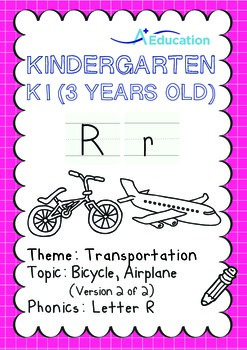 Transportation - Bicycle, Airplane (II): Letter R - K1 (3