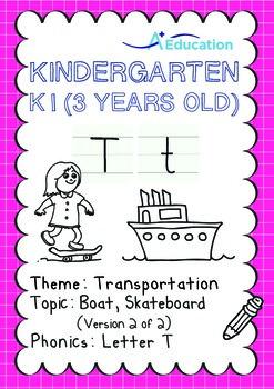 Transportation - Boat, Skateboard (II): Letter T - K1 (3 y