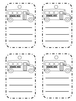 Transportation Book Bag Tags