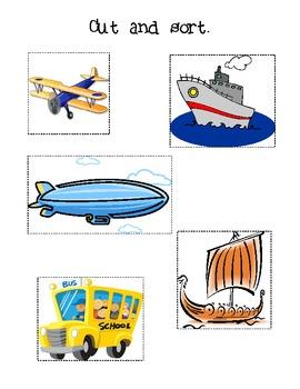 Transportation Book {cut, sort, & glue}