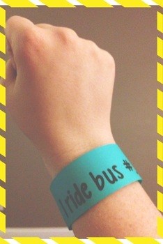 Editable Back-to-School Transportation Bracelets!