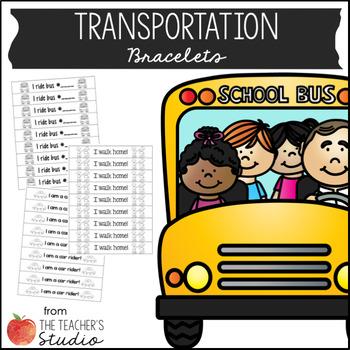 Editable Back-to-School Transportation Bracelets!