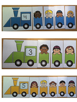 Transportation Math Center Activity- BUILD A TRAIN