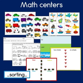 Transportation Bundle: Graphs, Reading, Hundreds Charts & Math Activities