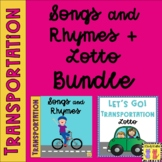 Transportation BUNDLE: Songs & Rhymes + Lotto