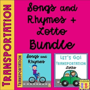 Transportation BUNDLE: Songs & Rhymes + Lotto
