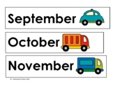 Transportation Calendar Headers