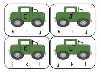 Transportation Capital to Lowercase Clip Cards