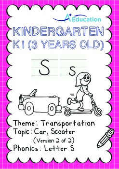 Transportation - Car, Scooter (II): Letter S - K1 (3 years old)