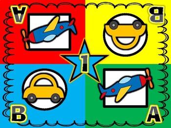 Transportation-Car and Airplane Kagan Inspired Team Mats