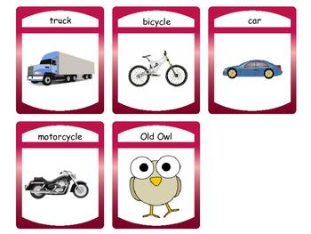 Transportation Card Games – ESL Transportation Vocabulary
