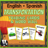 Transportation Vocabulary Cards and Word Wall