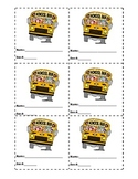 Transportation Cards for Back to School