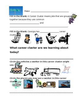 Transportation Career Cluster Worksheet