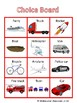 Transportation Cars Choice Board - Special Education, ECE, Autism