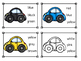 Transportation Cars Color Sight Word Clip Cards