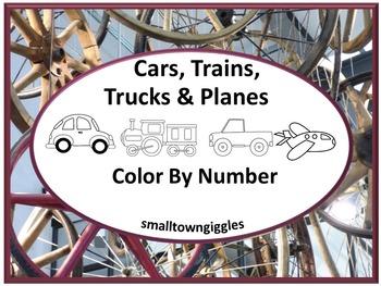 Transportation Color by Number