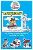 Transportation Cartoon Clipart for all Grades
