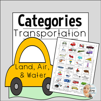 Transportation Categories: Land, Air, Water, Community Helping Vehicles