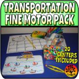 Transportation Centers Fine Motor Centers OT Transportation Theme Lit Math