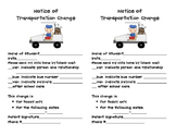 Transportation Change Form