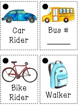 How Will You Get Home? Transportation Chart & Tags