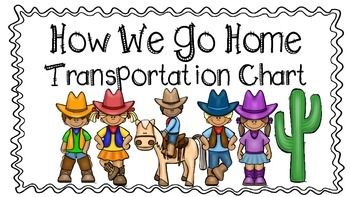Transportation Chart Western Theme