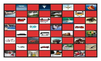 Transportation and Vehicles Legal Size Photo Checkerboard Game