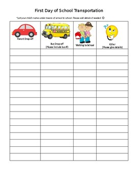 Transportation Checklist