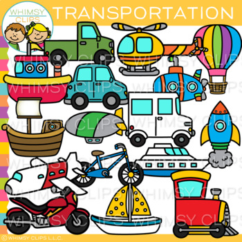 transportation clip art by whimsy clips teachers pay teachers rh teacherspayteachers com sell clipart teachers pay teachers making clipart for teachers pay teachers