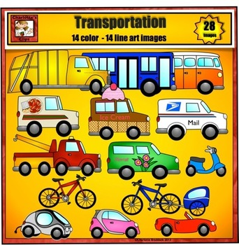 Transportation Clip Art 2 from Charlotte's Clips