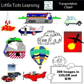 Transportation Clip Art Bundle - 369 PNG Images