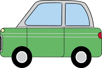 Transportation Clip Art: Bus, Car, Police Car, Fire Truck