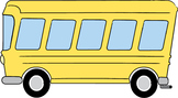 Transportation Clip Art: Bus, Car, Police Car, Fire Truck