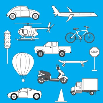 Transportation Clip Art - Set 1