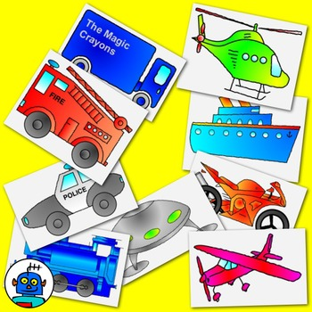 Clip Art for transportation and Vehicles - color and b/w png files