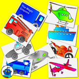 Clip Art for Transport and Vehicles - color and b/w png files