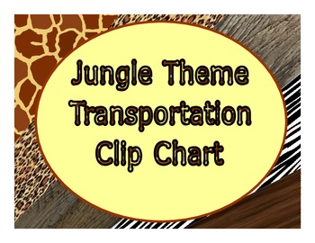 Transportation Clip Chart Jungle Theme