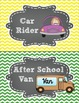 Transportation Clip Chart in Chalkboard and Chevron FREEBIE